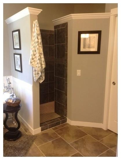 Anyone have a doorless shower - Doorless shower in small bathroom ...
