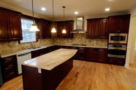 Brown kitchen cabinets pacifica door style kitchen for New style kitchen cabinets