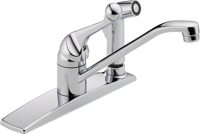 delta 300lf wf classic series single handle kitchen faucet with side rh houzz com best classic kitchen faucets