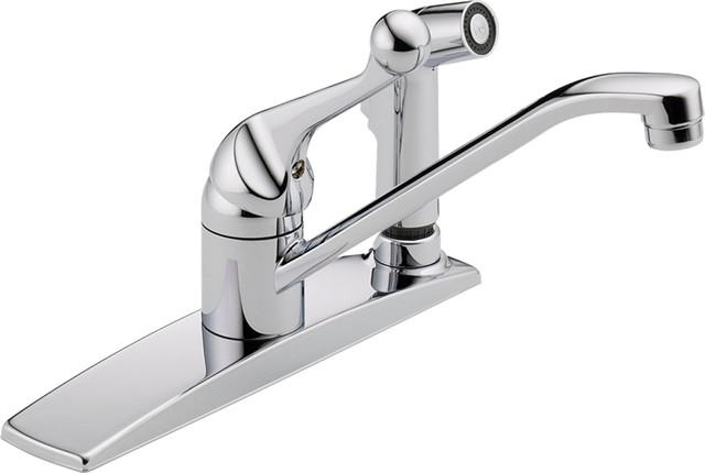 Delta Faucet Delta 300LFWF Classic Series SingleHandle Kitchen – Single Handle Kitchen Faucet with Side Spray