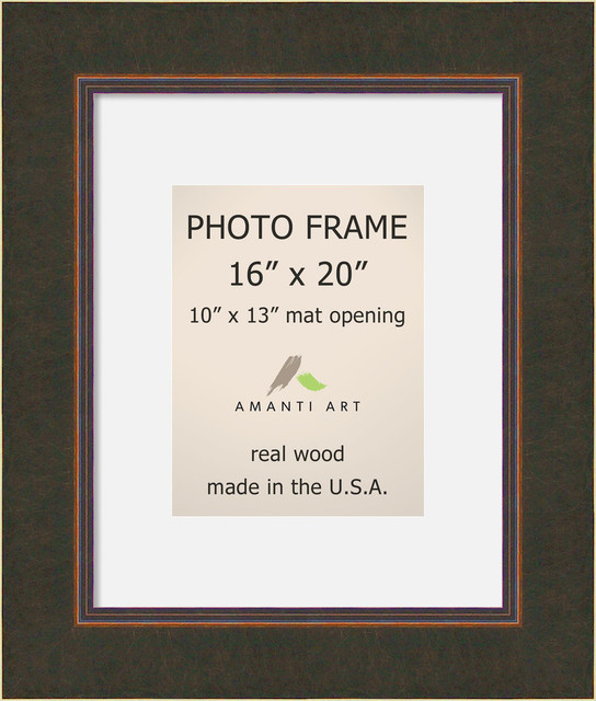 """Picture / Photo Frame 16""""x20 Matted to 10""""x13, Milano Bronze, Outer Size 22""""x26"""""""