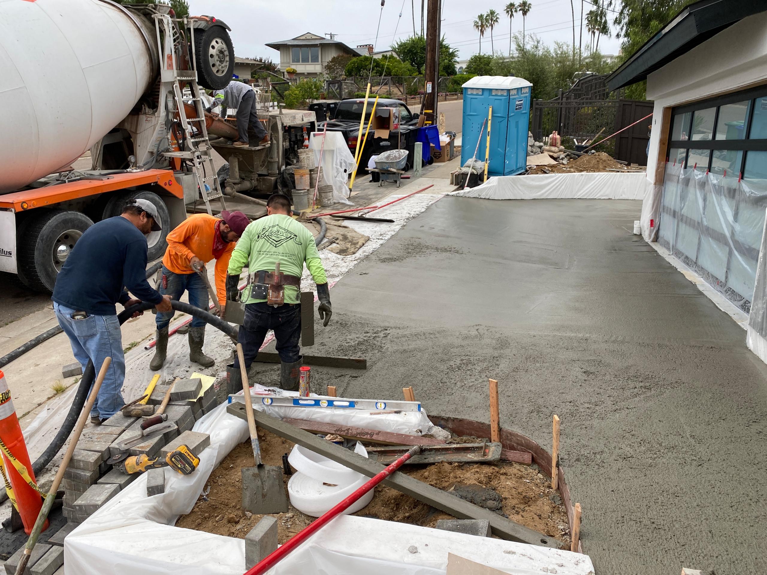 Pouring a New Concrete Driveway in La Jolla