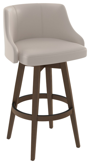 Tremendous Amisco Nolan Swivel Stool Beige Faux Leather Counter Height Ncnpc Chair Design For Home Ncnpcorg