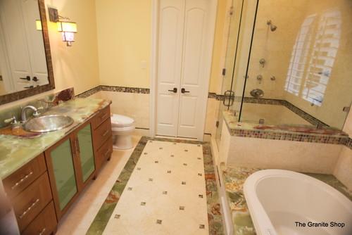 Mediterranean Bathroom Design By Dallas Kitchen And Bath The Granite Shop