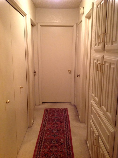 & Need ideas for hallway with wall to wall doors