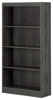 South Shore Axess 4 Shelf Bookcase, Gray Oak
