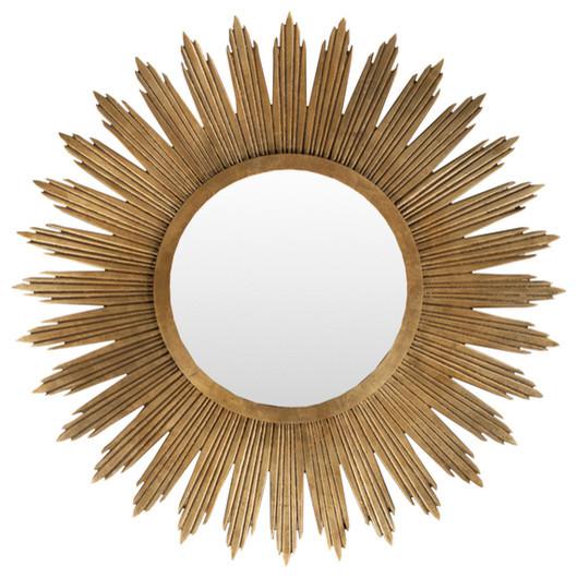 Gold Round Burst Mirror
