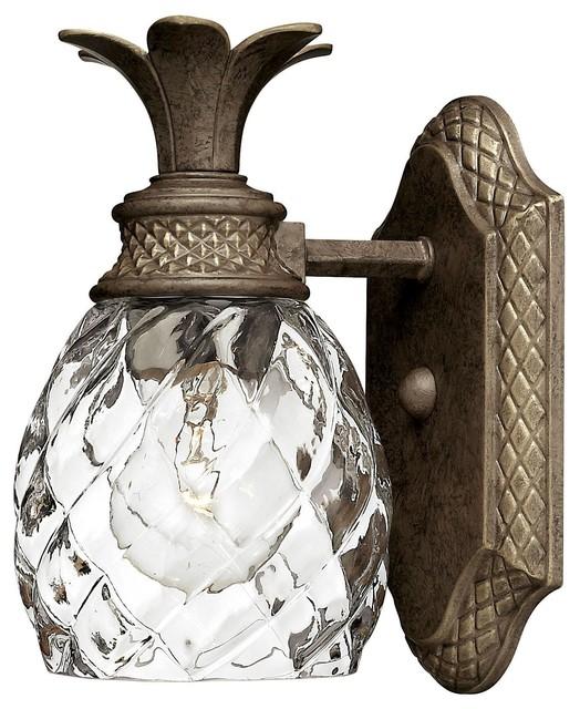 Hinkley Plantation 1 Light Pearl Bronze Bathroom Sconce Tropical Vanity Lighting By Mylightingsource