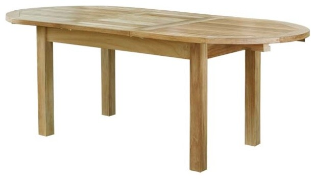 "39""x59 79"" Oval Extension Table Farmhouse Dining Tables by wa"