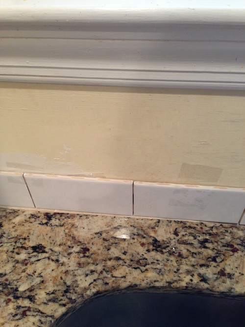 Kitchen Backsplash Uneven Wall gap when adding backsplash