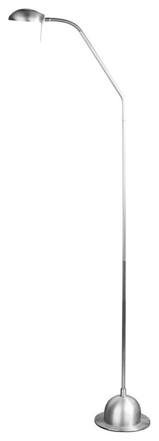 Alba 1-Light Floor Lamps, Satin Nickel