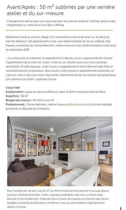 26 octobre 2015- Avant/Après : 50 m² sublimés par une verrière atelier et du sur