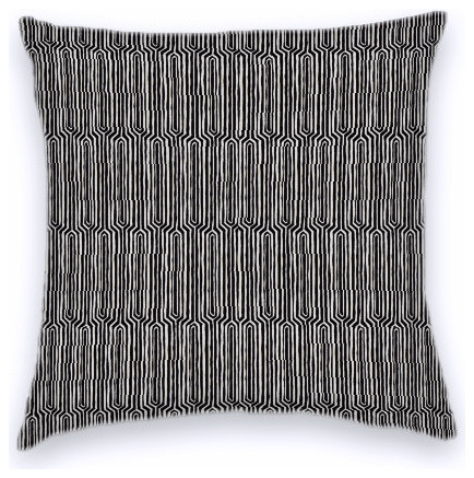 Black Taupe Funky Geometric Cotton Decorative Throw Pillow Cover Impressive Funky Decorative Pillows