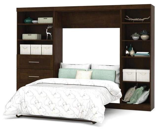 Bestar Pur Wall Bed Kit, Chocolate - Contemporary - Murphy Beds - by Beyond Stores