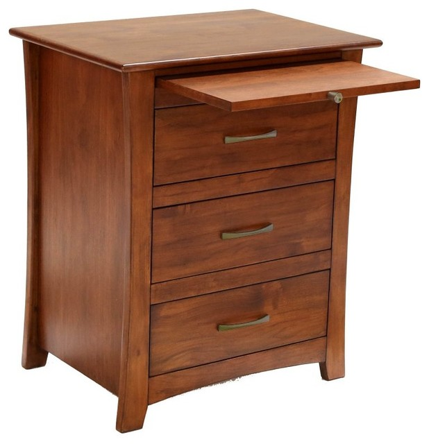 A America Grant Park 3 Drawer Nightstand With Pull Out