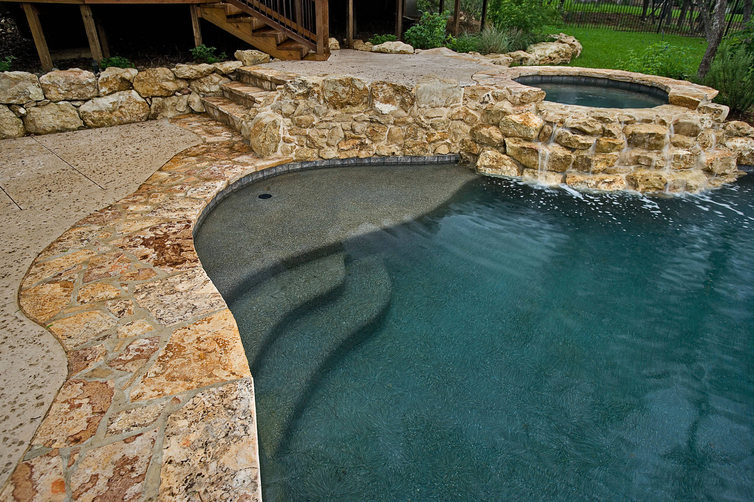 Rustic Natural Pool with Spa