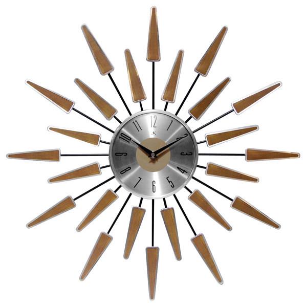 satellite 23 midcentury modern vintage wall clock