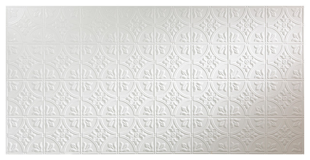 Fasade 48 In. X 96 In. Traditional Style 2 Wall Panel, Matte White.