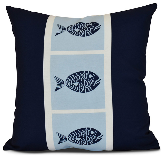 Fish Chips, Animal Print Outdoor Pillow - Contemporary - Outdoor Cushions And Pillows - by E by ...