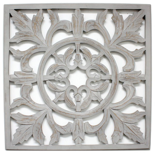 Carved Panel Gray - Traditional - Wall Accents - by Fetco Home Decor