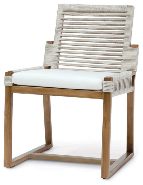 Superb Palecek San Martin Coastal Beach Salt Rope Wrapped Outdoor Side Chair Theyellowbook Wood Chair Design Ideas Theyellowbookinfo