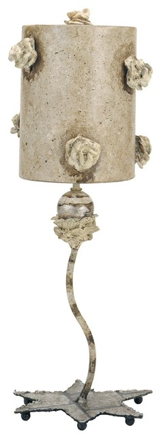 Mottled Tan Traditional Table Lamp