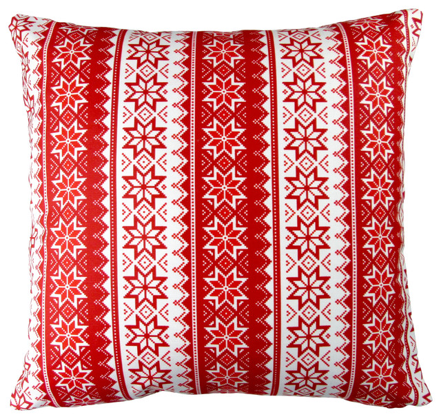 artisan pillows 17inch christmas stars stripes red holiday throw pillow
