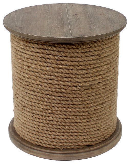 Baytowne Rope Accent Table Beach Style Side Tables And End
