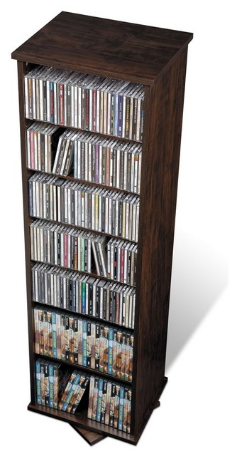 Prepac Espresso Two Sided Spinner / Multimedia Storage Tower (holds 528 Cds).