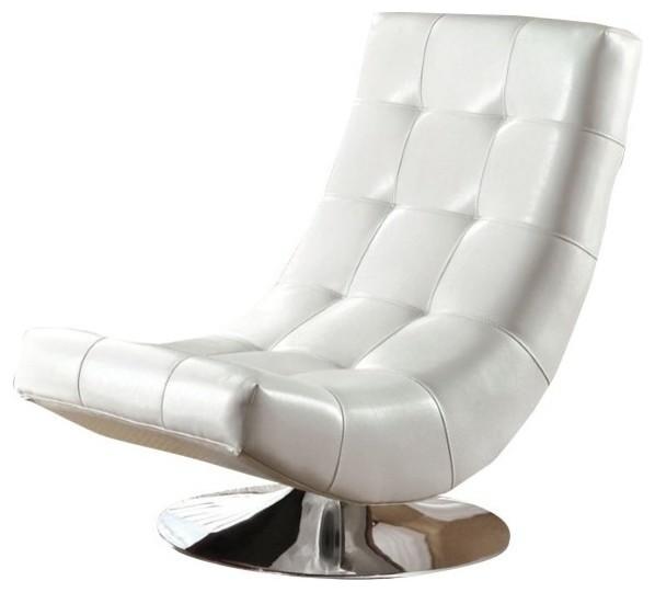 Awe Inspiring Furniture Of America Clifton Upholstered Swivel Chair White Customarchery Wood Chair Design Ideas Customarcherynet