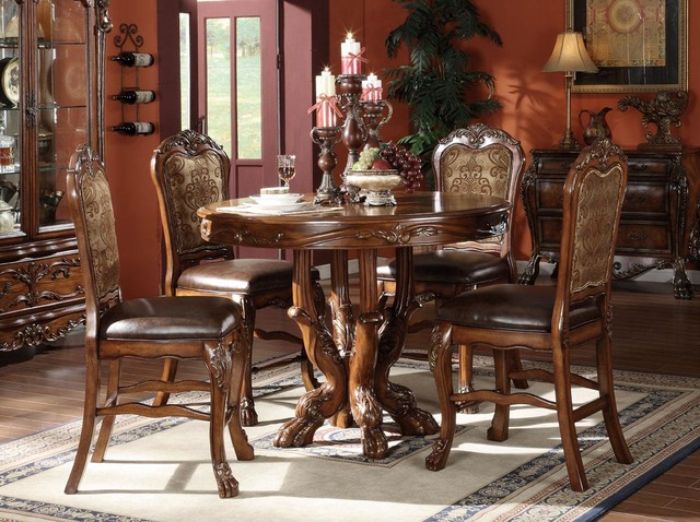 Dresden Round Pedestal Counter Height Table traditional-dining-tables