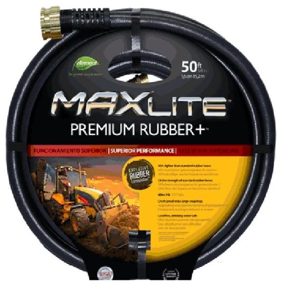 Swan Maxlite Premium Rubber Hose, Black, 50u0027 Contemporary Garden Hoses