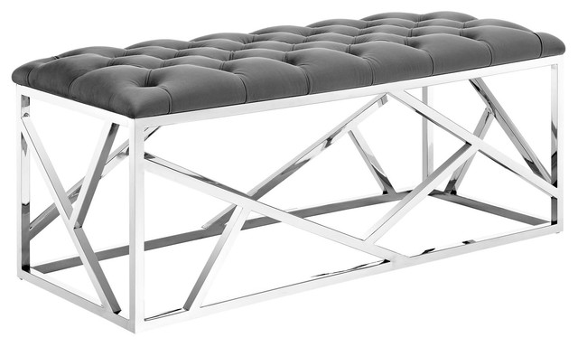 Intersperse Bench, Silver Gray.