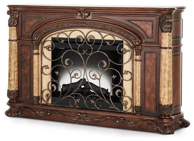 Aico Michael Amini Victoria Palace Fireplace With Electric Insert Victorian Indoor