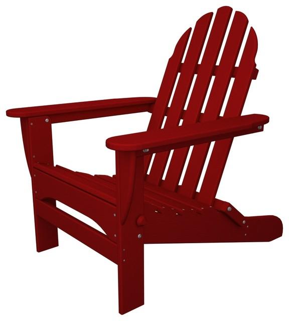Caravan Folding Adirondack Chair, Red.