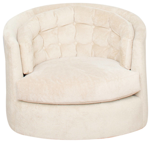 Barrel Lounge Swivel Chair