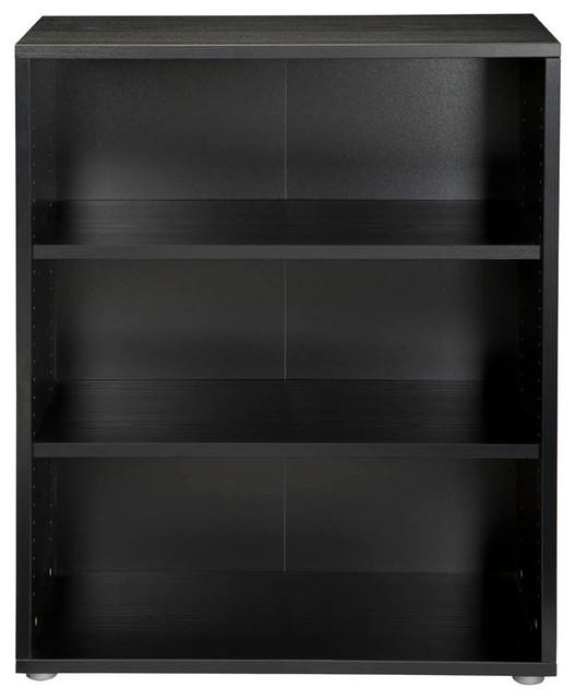 Tvilum Pierce 3-Shelf Bookcase, Black Wood Grain