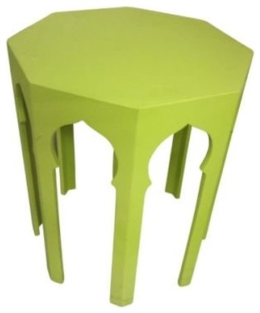 Moroccan Octagonal Accent Table Lime 22