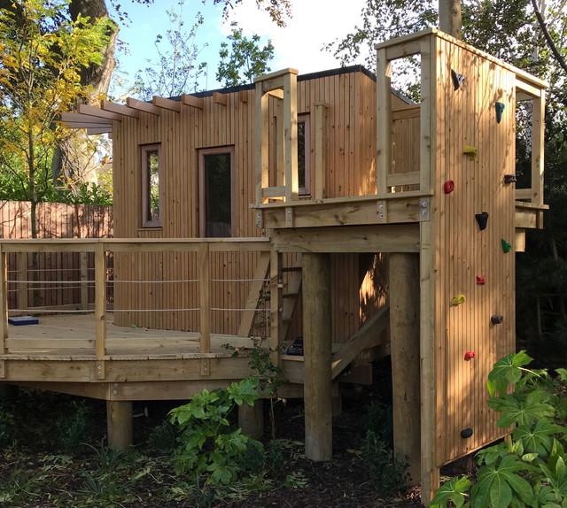 Contemporary Treehouse Play Garden Contemporary Dublin By