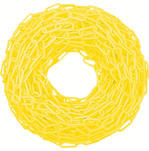Yellow Plastic Safety Chain.