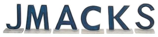 Decorative Aluminum Letters Benzara  Decorative Aluminum Letters Smackj 6Piece Set  View