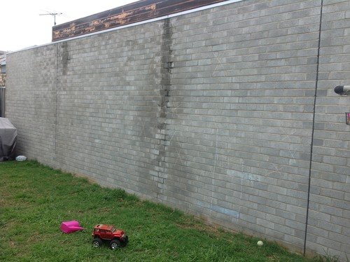 Diy Ideas for ugly backyard brick wall on Backyard Wall Covering Ideas id=81538