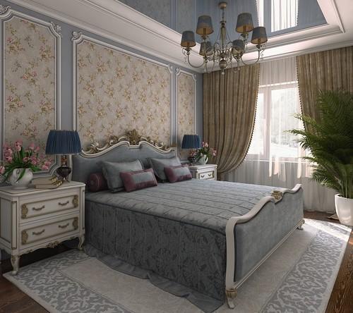 Ліжко для спальні в класичному стилі