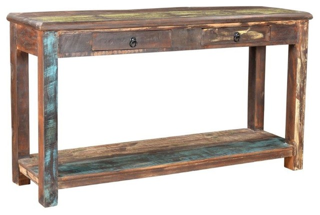 Incredible Timbergirl Old Reclaimed Wood Console Table Ibusinesslaw Wood Chair Design Ideas Ibusinesslaworg