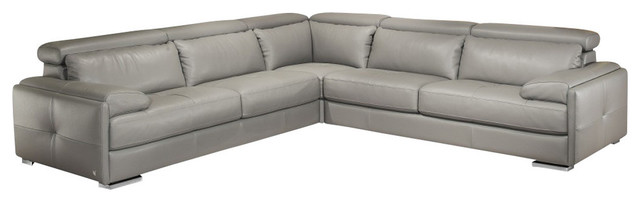 Gary Italian Leather Sectional By Nicoletti J M Left Arm Facing