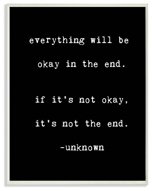 Lulusimonstudio Everything Will Be Okay In The End Wall Plaque.