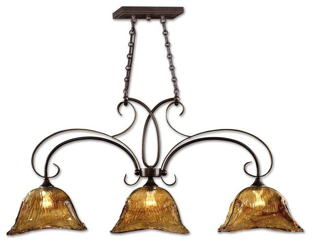Bronze Kitchen Island Light  Transitional  Kitchen Island Lighting
