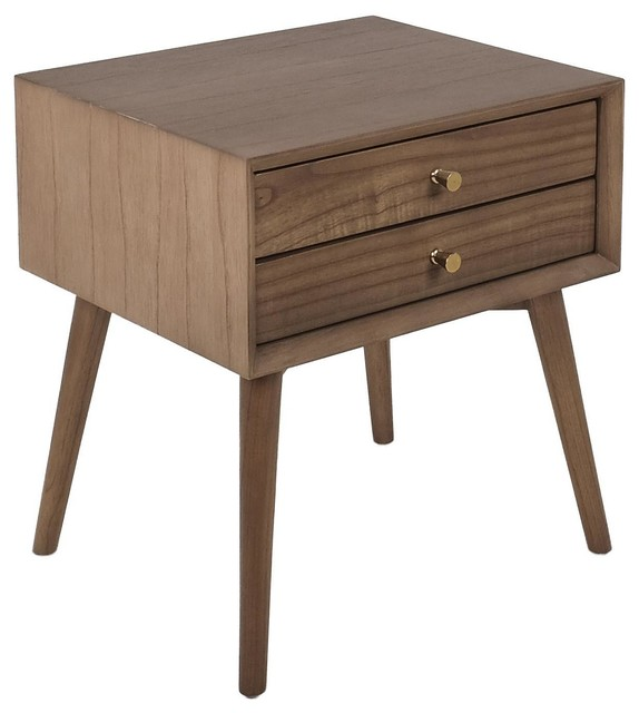 Avery Wooden Bedside Table