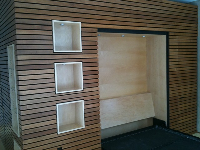 Wood Wall Trim Murphy Bed