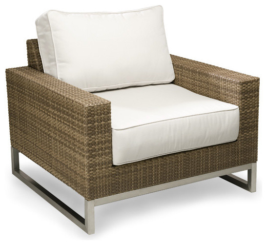 Amazing Palms Wicker Outdoor Club Chair, Outdoor Patio Furniture, Gingko  Contemporary Outdoor Lounge